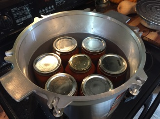 The All American 21.5 Quart processes 7 quarts at a time (or 14 pints)